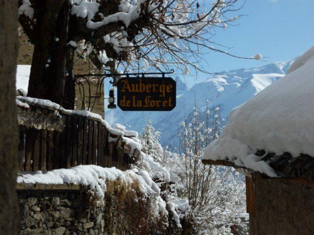 Auberge de la Forêt en hiver