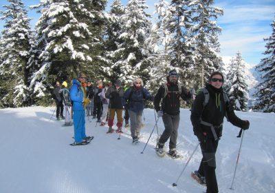 Begeleide sneeuwschoenwandeling